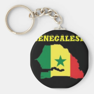 SENEGALESE  MAP T-SHIRT AND ETC BASIC ROUND BUTTON KEYCHAIN