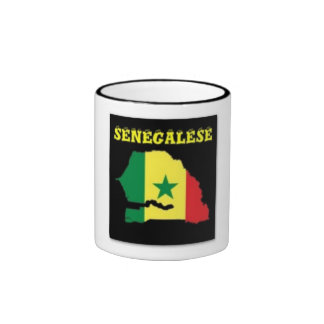 SENEGALESE  MAP T-SHIRT AND ETC MUGS