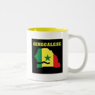 SENEGALESE  MAP T-SHIRT AND ETC Two-Tone COFFEE MUG