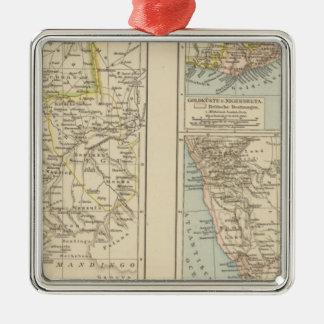 Senegambien, Goldkuste, Kapland Atlas Map Christmas Tree Ornaments