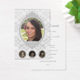 senescence photo memorial announcements business card