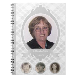 senescence photo memorial announcements spiral notebook