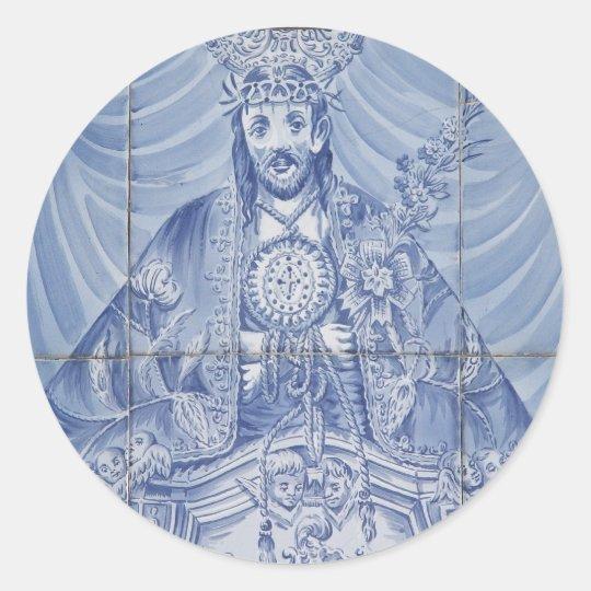 Senhor Santo Cristo Classic Round Sticker