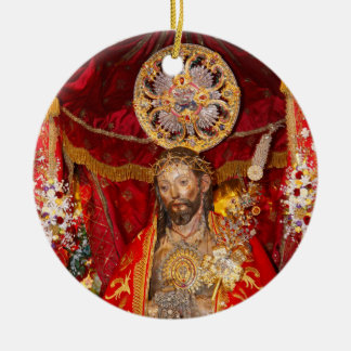 """Senhor Santo Cristo dos Milagres"" Ceramic Ornament"