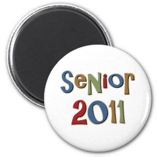 Senior 2011 2 inch round magnet