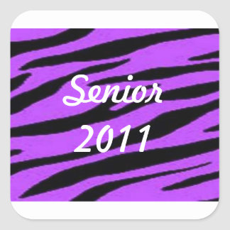 Senior 2011 Purple Zebra Stickers