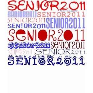 Senior 2011 - Red-White-Blue - Hoody Shirt shirt