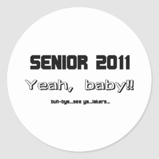 Senior 2011 round stickers