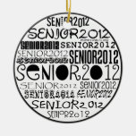 Senior 2012 (Black) Rearview Mirror Ornament