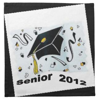 Senior 2012 placemat napkin