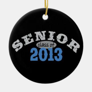Senior 2013 Blue Ceramic Ornament