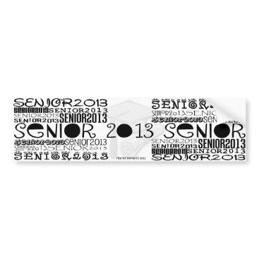 Beach Themed Senior 2013 - Bumper Sticker