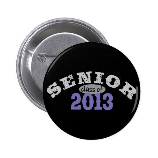 Senior 2013 Purple 2 Inch Round Button
