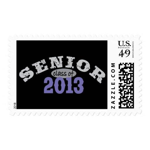 Senior 2013 Purple Postage Stamp