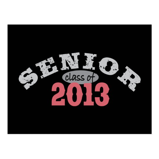 Senior 2013 Red Postcard