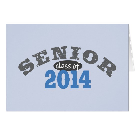 Senior 2014 Blue Card