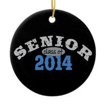 Senior 2014 Blue Ceramic Ornament