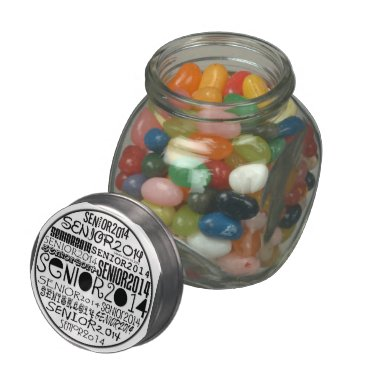 Beach Themed Senior 2014 - Candy Jar Glass Jar