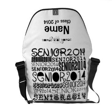 Beach Themed Senior 2014 Rickshaw Messenger Bag