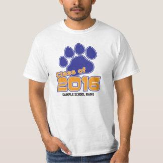 Senior 2016 T-shirt Blue and Orange Paw