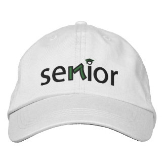Senior 2017 - Green Embroidered Baseball Hat