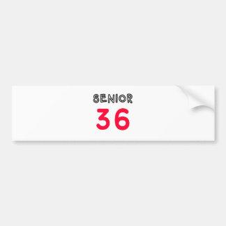 Senior 36 car bumper sticker