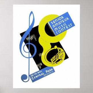 Senior Amateur Music Contest Poster