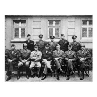 Senior American Military Officials of World War II Postcard