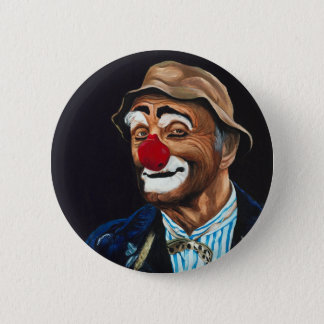 Senior Billy The Clown Pinback Button