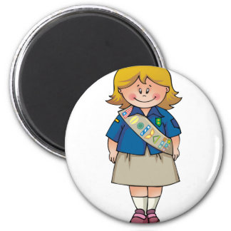 Senior   Blond Sash Magnets