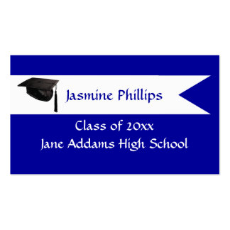 Senior Blue Name Card Double-Sided Standard Business Cards (Pack Of 100)