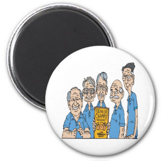 Senior Bowling Champs 2 Inch Round Magnet