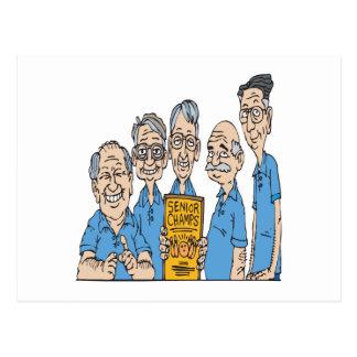 Senior Bowling Champs Postcard