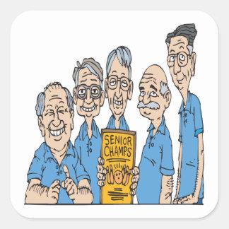 Senior Bowling Champs Square Sticker