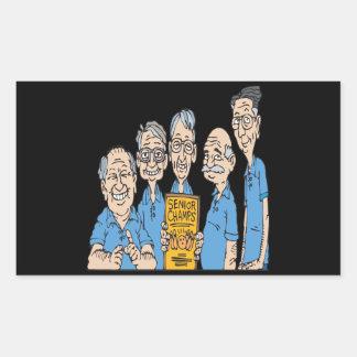 Senior Bowling Champs Rectangular Sticker