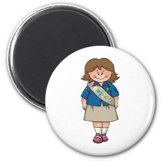Senior   Brunette Sash Magnets