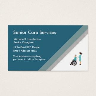 elder care nurse business cards templates zazzle