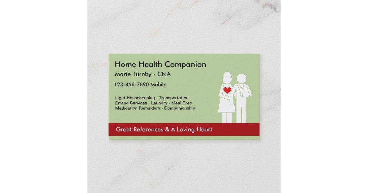 Senior Caregiver Business Cards | Zazzle.com