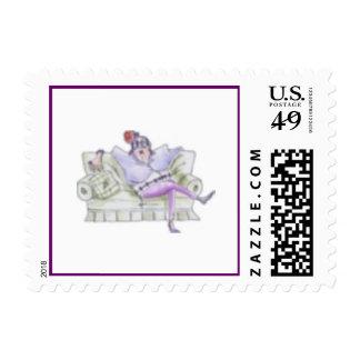 Senior Chic Girlfriend Postage Stamp