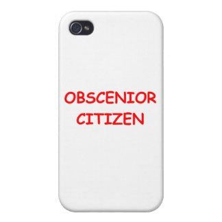 SENIOR citizen Cases For iPhone 4