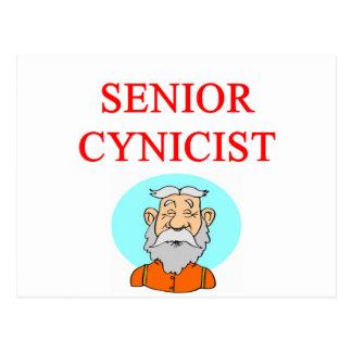senior citizen cynic postcard