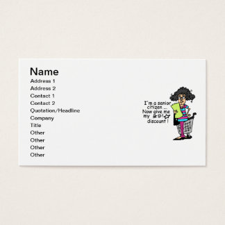 Senior Citizen Discount Business Card