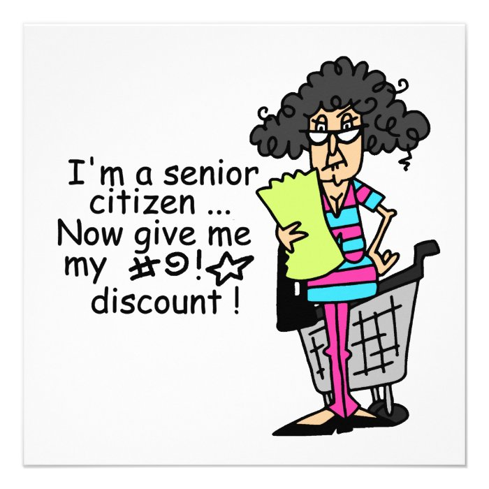 Senior Citizen Discount Custom Invitation
