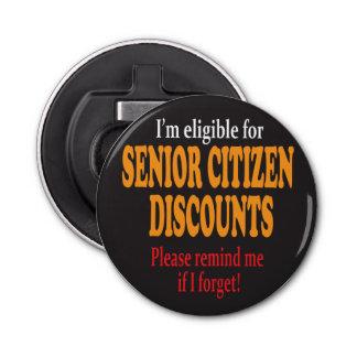 Senior Citizen Discount Design Bottle Opener