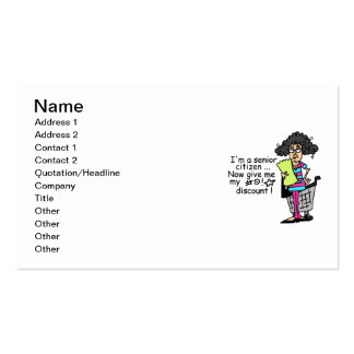 Senior Citizen Discount Double-Sided Standard Business Cards (Pack Of 100)
