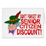 Senior Citizen Discount Greeting Card