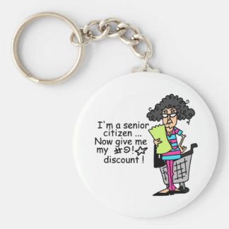 Senior Citizen Discount Keychain