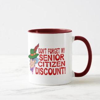 Senior Citizen Discount Mug