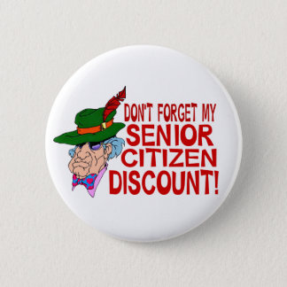 Senior Citizen Discount Pinback Button