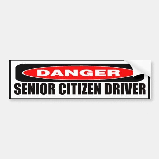 Senior Citizen Driver Bumper Sticker